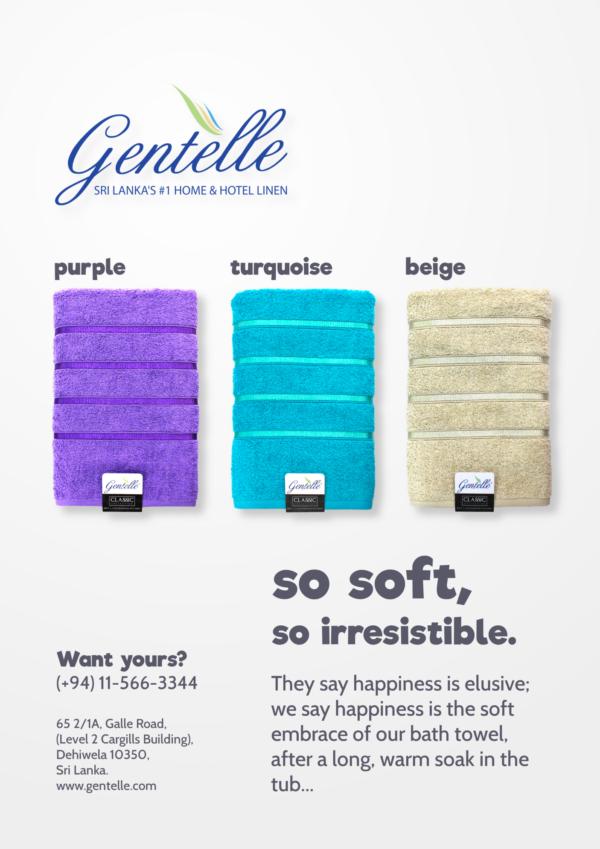 Gentelle Towel Advertisement