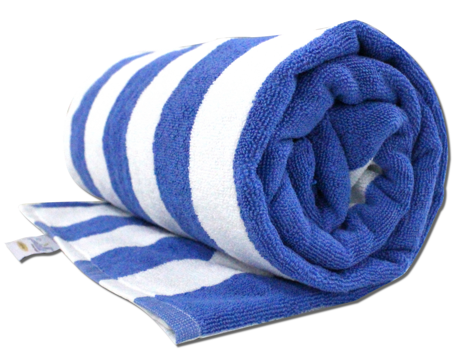 Pool Towel In Blue And White Stripes